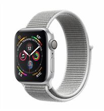 Apple Watch 4 GPS 40mm Silver Aluminum Case with Seashell Sport Loop Band